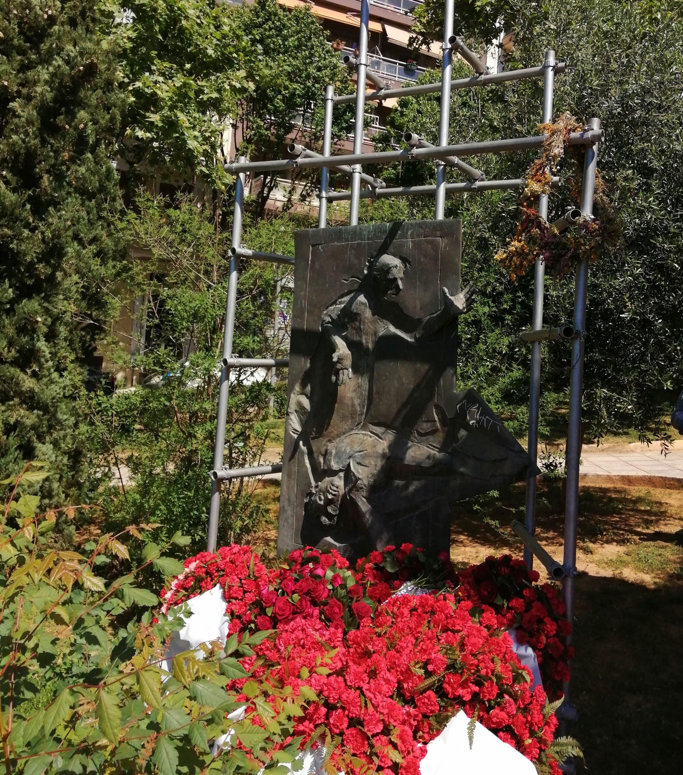 84 χρόνια από το Μάη του 1936  -Ολοκληρώθηκε η κατάθεση στεφάνων  στο μνημείο του Εργάτη