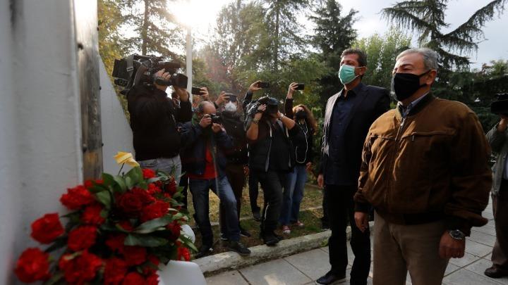 Κατάθεση στεφάνων στο μνημείο του Πολυτεχνείου