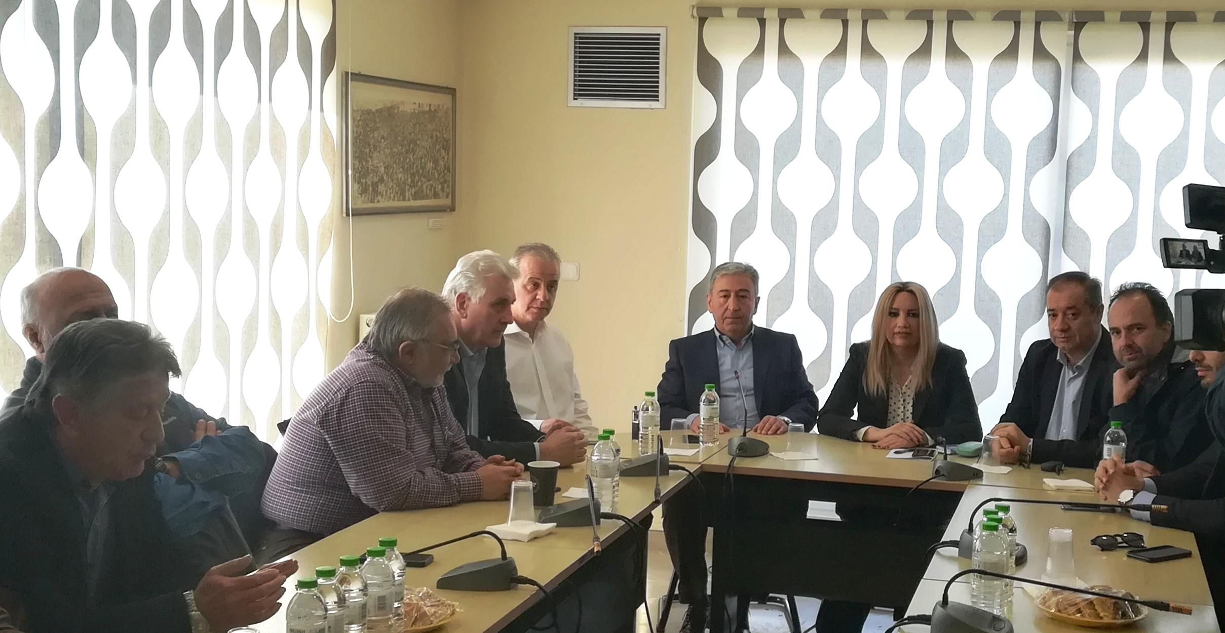 Επίσκεψη της προέδρου του ΚΙΝΑΛ, Φώφη Γεννηματά στο Ε.Κ.Θ.