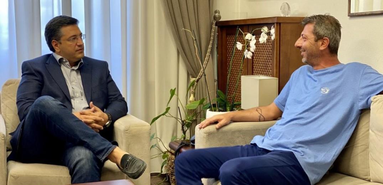 Συνάντηση του Προέδρου του ΕΚΘ Χ. Κυπριανίδη με τον Περιφερειάρχη Κεντρικής Μακεδονίας Α. Τζιτζικώστα στην Περιφέρεια