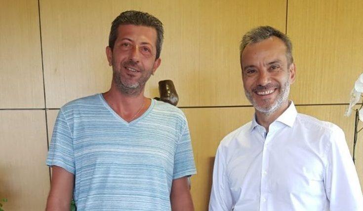 Συνάντηση του Πρόεδρο του Εργατοϋπαλληλικού Κέντρου Χ. Κυπριανίδη με τον Δήμαρχο Θεσσαλονίκης Κ. Ζέρβα