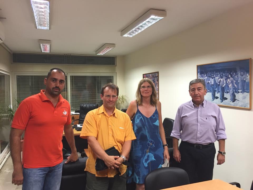 Επίσκεψη στο Εργατοϋπαλληλικό Κέντρο Θεσσαλονίκης πραγματοποίησαν συνδικαλιστές από τη Γαλλία και τη Γερμανία την Τρίτη 01.09.2015